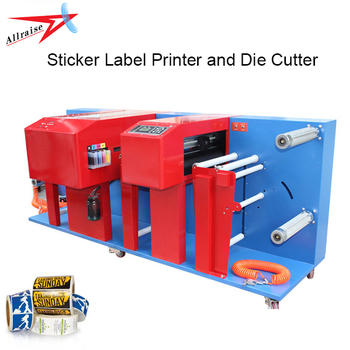 4 Kleuren Roll UV Inkjet Digitale Label Printer voor Sticker, PVC