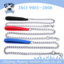 China factory supply pet accessory strong chain dog leash with padding handle
