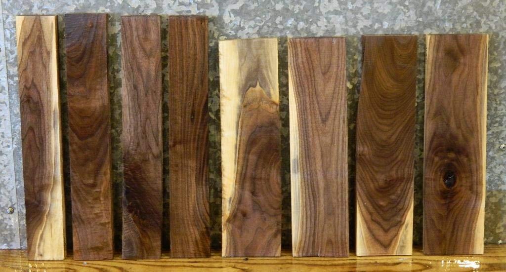 8- Black Walnut Rustic Craft Pack/Kiln Dried Lumber Boards T: 7/8'', W: 2 7/8'', L: 18'' - 11863-11870