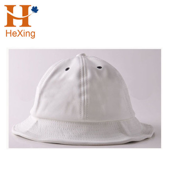 Customized High Quality Cool Black White Triangle Patch Faux Leather Bucket  Hat 143583a77476