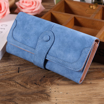 441959f20f5 Alibaba China long style women leather trifold wallets phone ladies clutch  purse