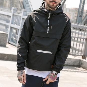 3345517bd Custom Men 100% Polyester Windbreaker Street Jackets Wholesale Casual Loose  Fit Outdoor Jacket