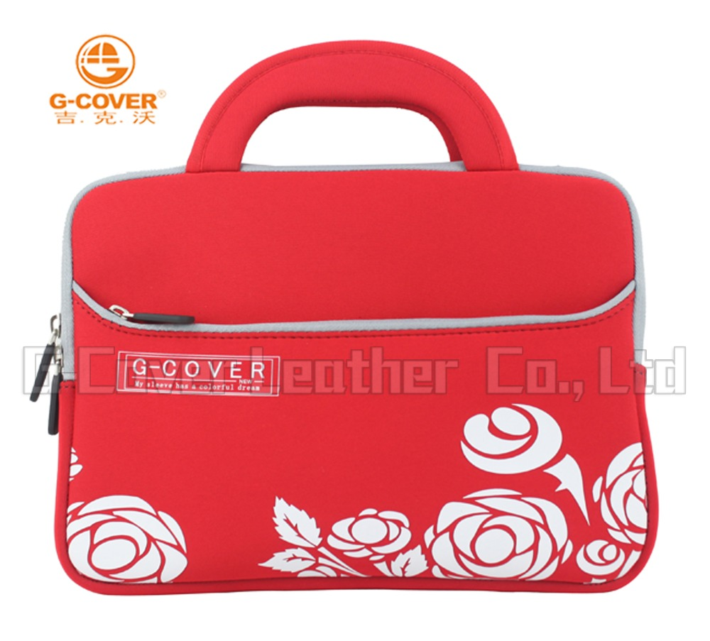 custom multifunction 10 inch neoprene laptop bag with handle