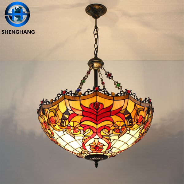 nostalgia style dining room led lamp pendant / tiffany chandelier Factory price