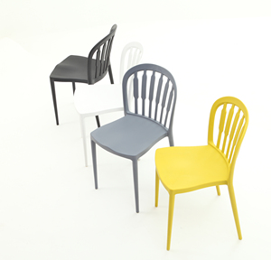 Best price Can be stacked together Plastic Chair on modern design Code A383