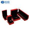 Luxury red LED light jewelry packaging box display with pendant bracelet ring