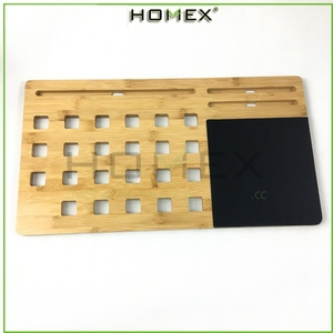 Bamboo wooden portable Laptop Stand & Desk Board Slate /PC laptop for Mobile phone with Mat/Homex