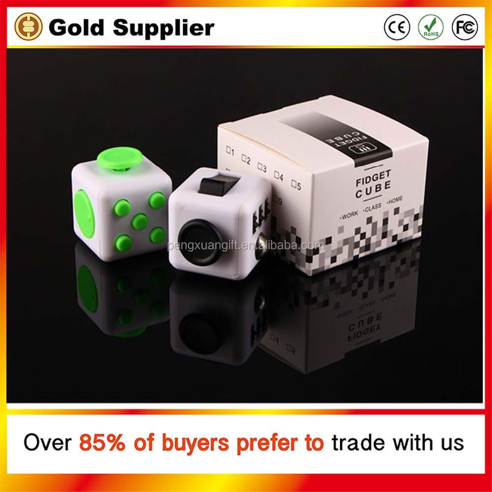 12 colors Magic Fidget Cube a vinyl desk toy 2017 New Fidget Cube anti irritability toy magic cobe Funny stress cube toy gift