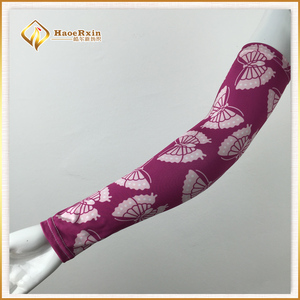 2018 fashion sunblock arm and hand sleeves with flowers and animals