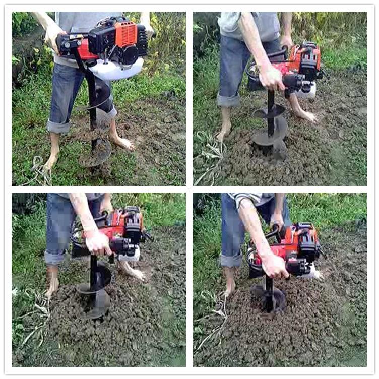 Benzina a mano trapano terra terra di perforazione macchina