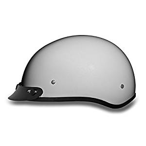 DOT Pearl White Motorcycle Half Helmet with Visor (Size L, LG, Large)