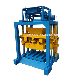Lowest -QTJ4-35 vibrating press for production of paving /price hollow block machine