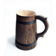Bamboo look base dark grey color eco friendly wood cup wooden beer mug