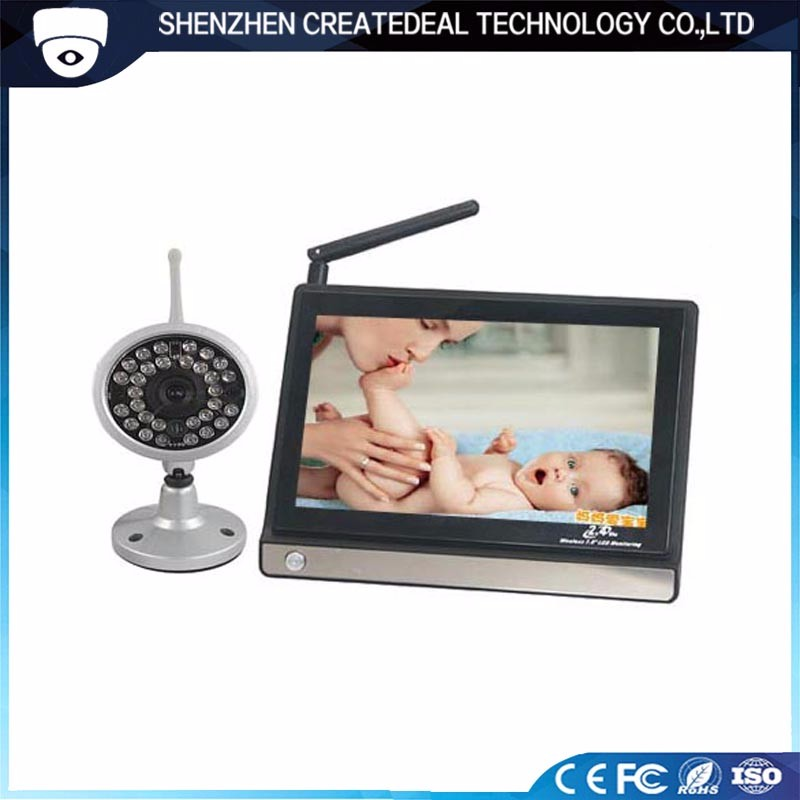 "7.0"" LCD Audio Baby Camera Monitor 2.4GHz Wireless Camera"