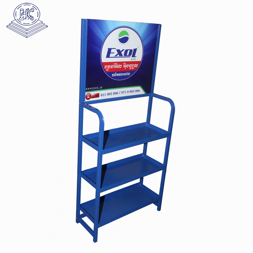 customized durable 3 tier battery inverter display rack