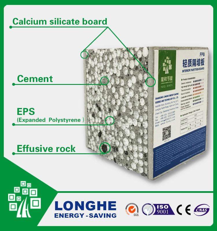 Calcium Silicate Bricks Light Reflecting : Longhe lightweight interlocking eps cement sandwich wall