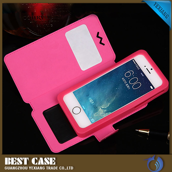 flip stander case new slider universal silicon mobile phone case 3.5 4.0 4.3 4.7 5.0 5.5 inch