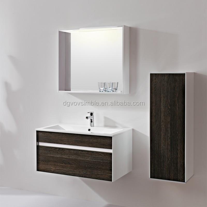 Pvc Bathroom Cabinet Double Sink Vanity Saudi Arabia Design Furniture Set