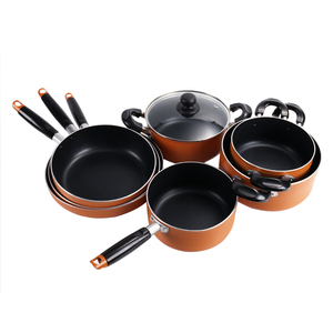 kitchen cookware set aluminum Non-stick deep frying pan+saucepan sauce pan skillet cooking milk soup stock pot stockpot HC-CS007