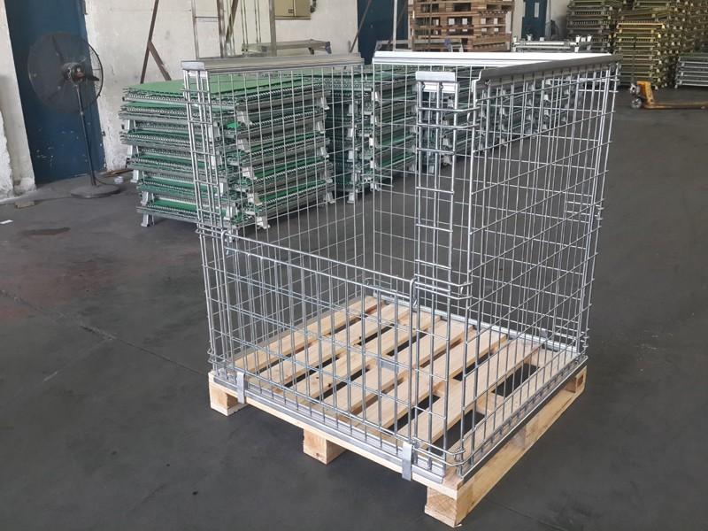 OEM Galvanized Foldable Euro bottle Wire Container
