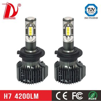 Hot sale automobile accessories about 8000 lumens v2 type led headlight h7 bulbs