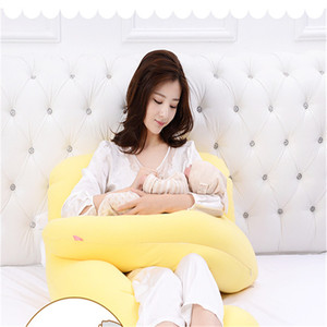 Pregnancy Pillow Cotton Belly Contoured Maternity U Shaped Body Pillows for Side Sleeper Removable Cover