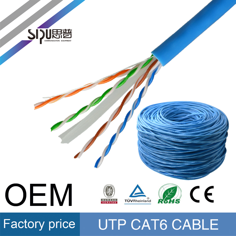 SIPU factory supply wholesale rj45 1000 ft 0.5 copper cat6e cable utp in competitive price