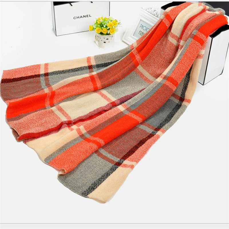 2015 Hot Fashion Women Long Soft Scarf Europ Style Wrap Plaid Scarves New Arrival Plaid High Quality Shawls Free Shipping
