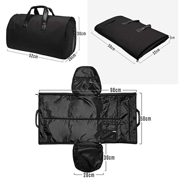Black Men Garment Bag Travel Suit Duffle With Shoe Compartment View Oem Product Details From Shenzhen Charming Luggage
