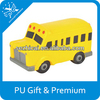 school bus stress toy for sale pu stress car cheap giveaway gifts anti stress car reliver promotion gift advertisement product