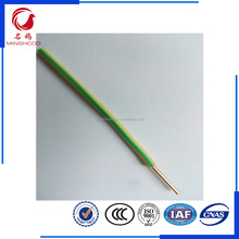 BV1.5mm PVC insulated Single core copper earth electric wire manufacturer supplier