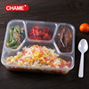 Hot Resuable 3 Compartment Food Container With Lid , Hot Sale Stackable Food Container Bento Box Microwave