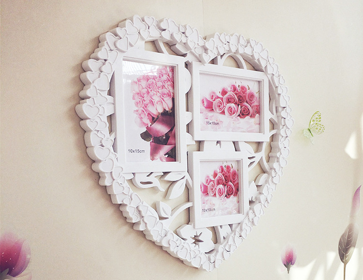 Wholesale Stock Small Order Household Wall Decoration Heart Shaped Photo Frame