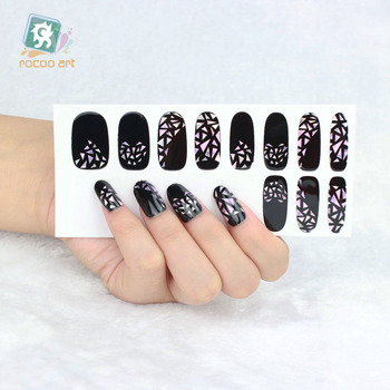 Yo 610latest Korean Style Laser Black Diamond Nail Art Wraps