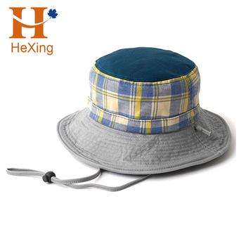 2017 Custom Men Cotton Wide Brim Fishing Bucket Hat With String ... d61e95e62ae0