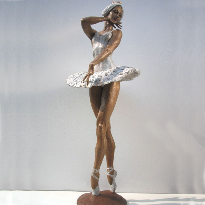 Statue de bronze sculpture ballerine ballet figurine