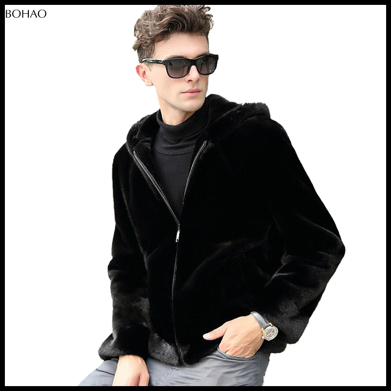 The Most Hot Sale Men Hooded Winter Warm Style Newest Faux Fur Men Jacket