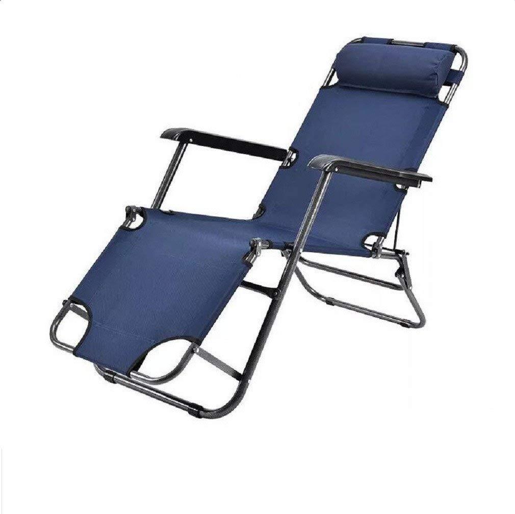 ZLJTYN Folding Sun Lounger Lounge Chair Folding Lunch Break Summer Balcony Cool Chair Office Multifunctional Nap Bed Outdoor Leisure Beach Chair, D, 1 PACK