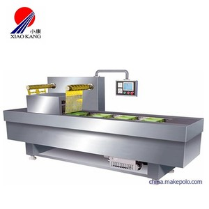 vacuum skin packing machine tray sealer for meat, sausage and seafood packing
