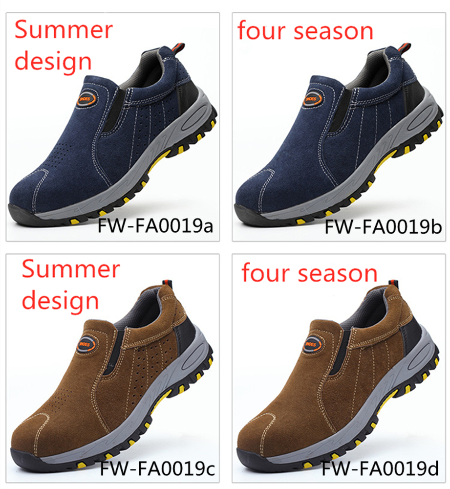 workmans safety shoes anti puncture /smashing / safety shoes labor protection FW-FZ0019