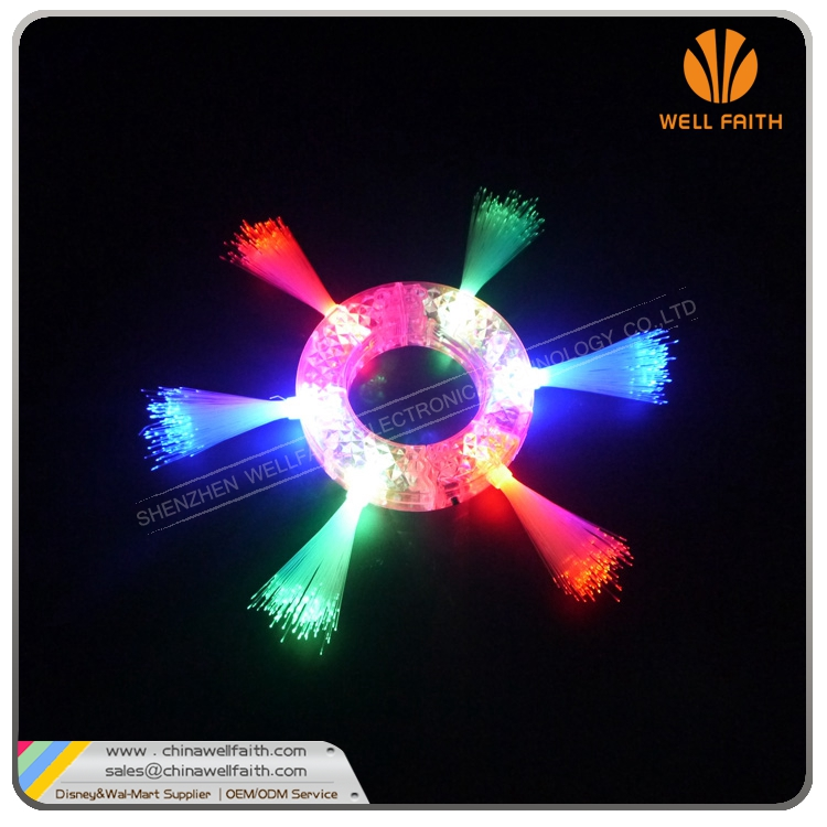 popular optical fiber flashing bracelets party stuff party decoration led light glow in dark bracelet