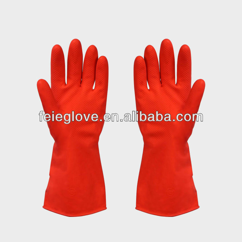 Household Latex Rubber Gloves Flock/cotton Lined/unlined Latex Rubber Hand Gloves