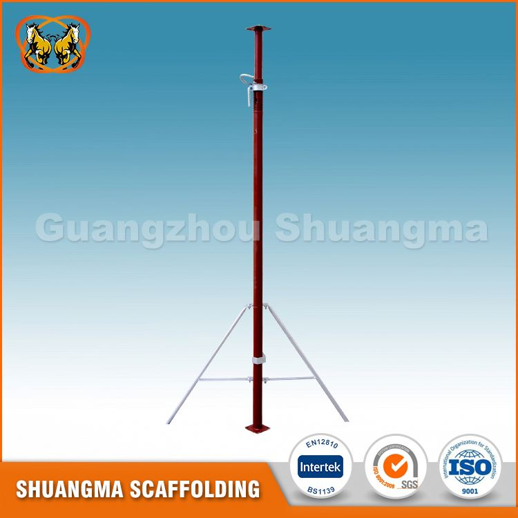 Hot new products for indoor building construction adjustable steel prop scaffolding