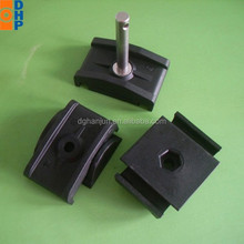 Round pipe brackets H71 plastic double pipe clamp