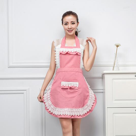china factory custom High quality promotional sexy design lace kitchen apron