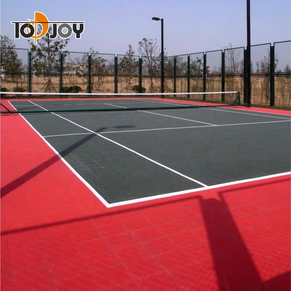 สนามเทนนิสกีฬากลางแจ้งกระเบื้องประสาน