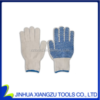 Xiangzu Cotton gloves with signle blue dots