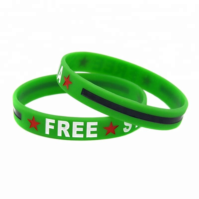 Wholesale Free Syria Ink-filled Silicone Wristband Bracelet
