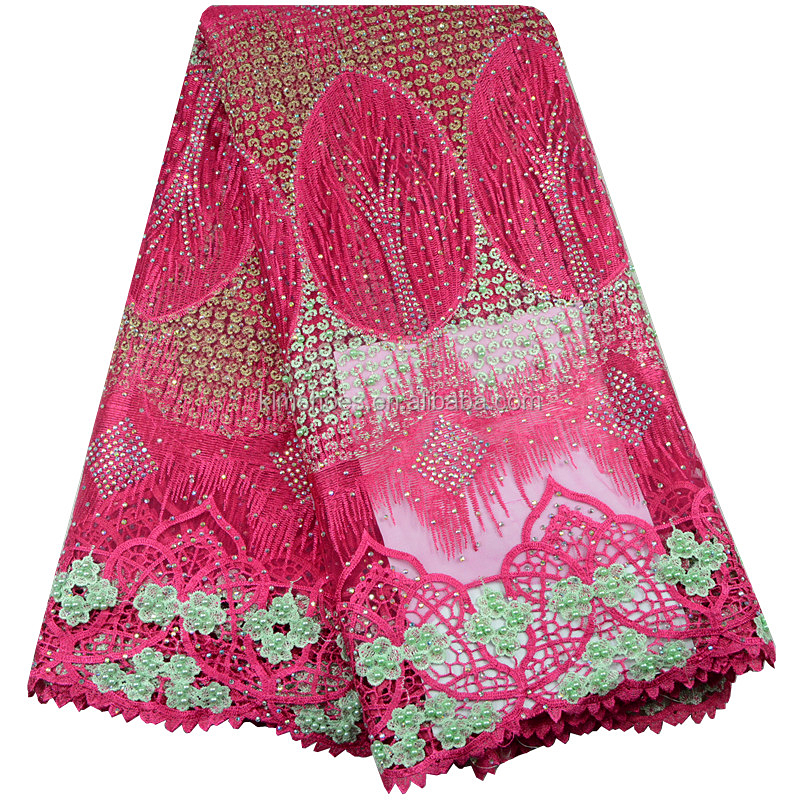 2017 The Newest Elegant Nigeria Lace/types Of French Lace Fabric ...