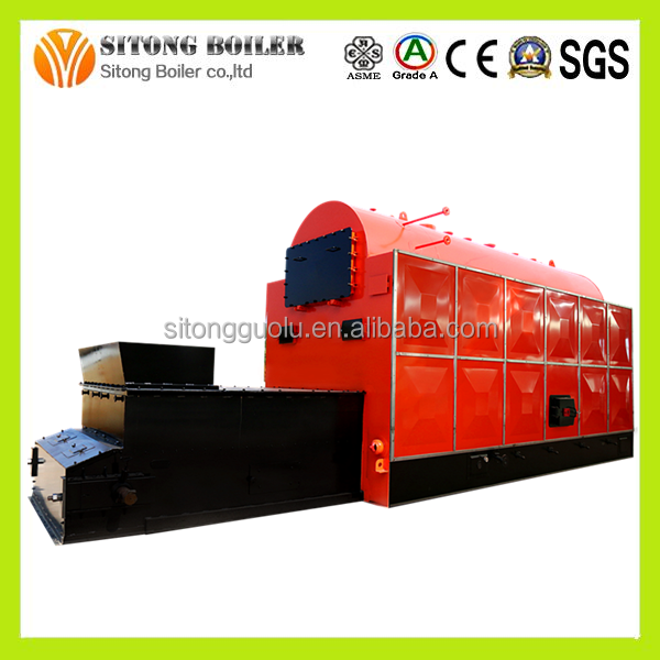 Travelling Grate Horizontal DZL 13Bar 10 ton/hr Sunflower Husk Steam Boilers